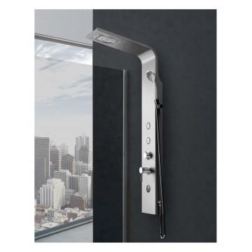 Pannello Doccia Ambra Silver + White in Alluminio Verniciato