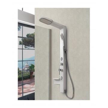Pannello Doccia Giada Silver + White in PVC