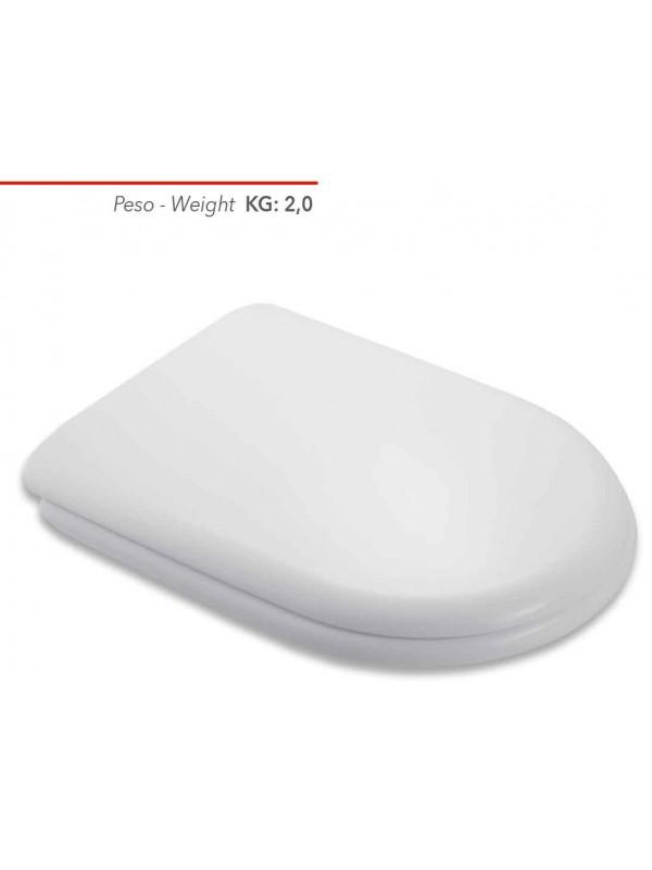 Sedile Wc Compatibile Ideal Standard Fiorile Sospeso Copriwater In Plastica Termoindurente Bianco